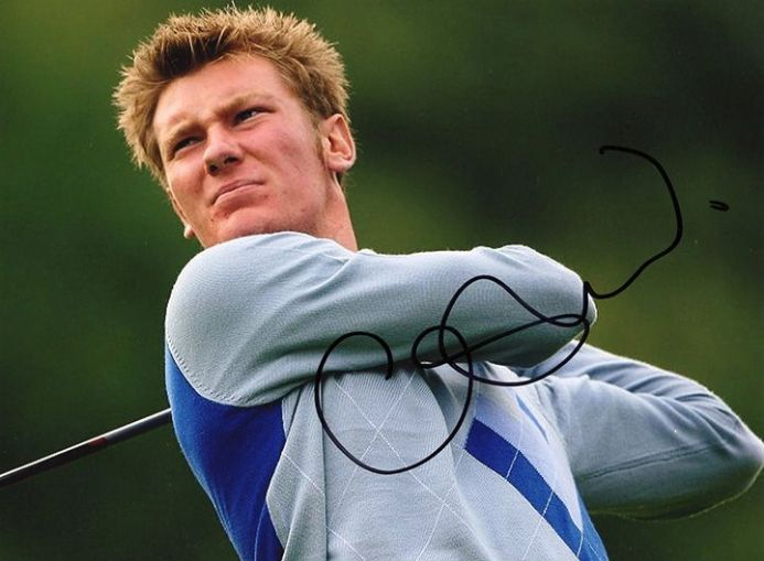 Chris Wood, Ryder Cup, signed 8x6 inch photo.